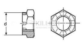 Killich matice M18 ZINEK 14H korunková nízká DIN 937