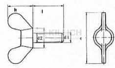 Killich šroub M5x20 ZINEK křídlový DIN 316 GT