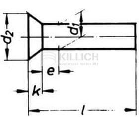 Killich nýt 8x40 Fe-ocel zápustná hlava DIN 661