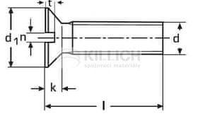 Killich šroub M6x40 ZINEK 4.8 zápustná hlava rovná drážka DIN 963
