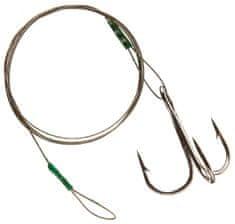 Cormoran lanko 7x7 ocelové barva hnědá - s očkem a trojháčkem 50 cm 6 kg háček 4
