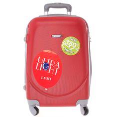 ORMI Cestovní kufr skořepinový červený, vel.I, 4.kolečka