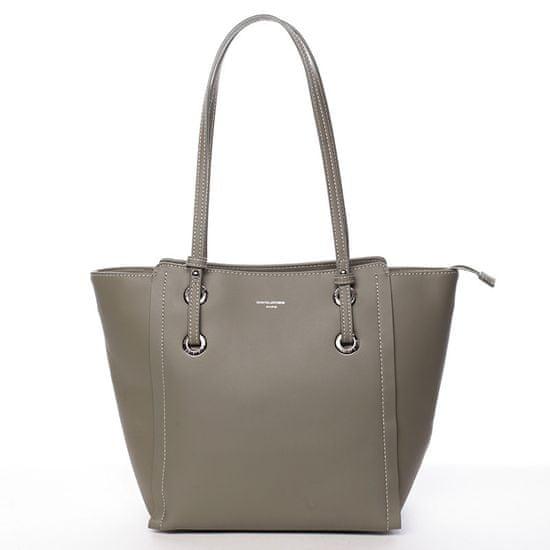 David Jones Elegantní shopper taška David Jones Amour, zelená