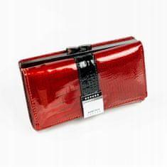 Lorenti Dámská moderní peněženka z kůže Leola, červená