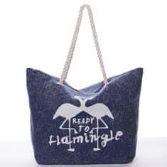 Bellugio Trendová plážová taška Paz, modrá