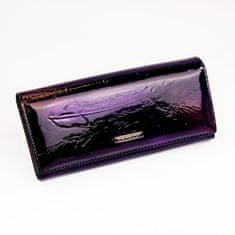 Cavaldi Dámská lesklá kožená peněženka Candice, černá