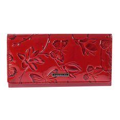 Cavaldi Svěží červená kožená peněženka Tatiana