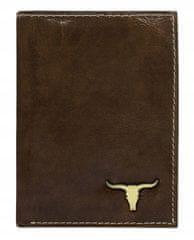 Buffalo Wild Klasická pánská kožená peněženka na výšku, hnědá