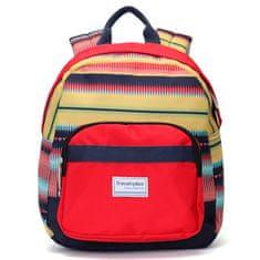 Travel plus Originální stylový batoh Travel Plus, červený-duhový