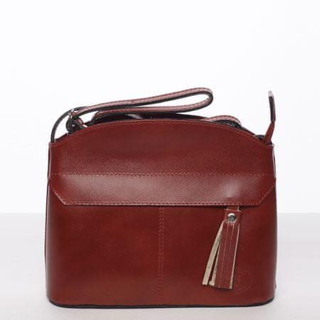Delami Vera Pelle Moderní kožená crossbody kabelka CLAUDINE, červená