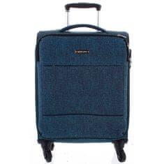 Menqite Látkový odlehčený kufr Menqite 4.kolečka, velikost II, zelený