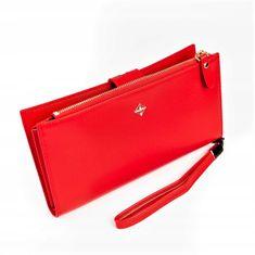 MILANO DESIGN Dámská praktická peněženka Devin, světle červená