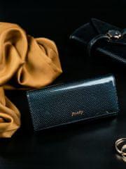 Rovicky Kožená lakovaná dámská peněženka Joanne, černá