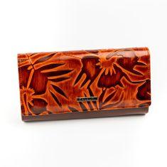 Cavaldi Elegantní dámská kožená Cavaldi peněženka, hnědá