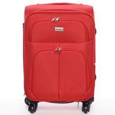 ORMI Cestovní kufr látkový, červený 4 kolečka, vel. I