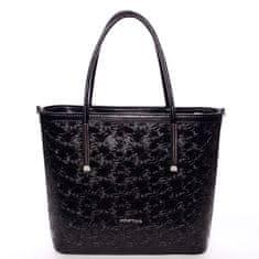 Annie Claire Květovaná dámská kabelka přes rameno Anna, černá
