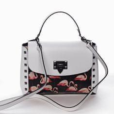 Delami Vera Pelle Moderní kožená kabelka do ruky DOMINIQUE, bílá