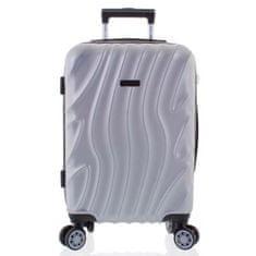 ORMI Moderní kufr stříbrný, 4. kolečka, velikost I