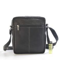 Delami Vera Pelle Pánská kožená taška černá Delami Adrian
