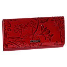 Cavaldi Elegantní kožená peněženka Cavaldi Fiona, červená