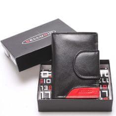 Bellugio Dámská kožená peněženka Camillo černá/červená