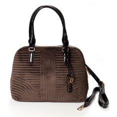Dudlin Semišová dámská kabelka do ruky Marisa, hnědá