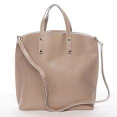 Delami Florence Atraktivní kožená kabelka Bailey, béžová