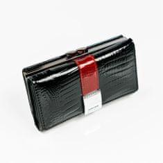 Lorenti Dámská moderní peněženka z kůže Leola, černá