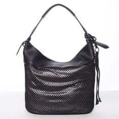 Maria C. Měkká dámská kabelka přes rameno Alessia, černá