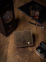 Buffalo Wild Pánská kožená peněženka na šířku Dan, světle hnědá