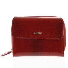 Ellini Dámská kožená peněženka Tatiana červená