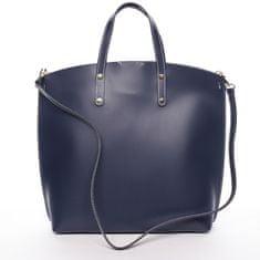 Delami Vera Pelle Atraktivní kožená kabelka Bailey, tmavě modrá
