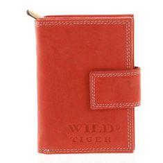 Wild Kožená dámská peněženka Perla červená