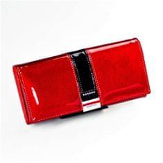 Lorenti Exkluzivní lakovaná kožená dámská peněženka Freya, červená