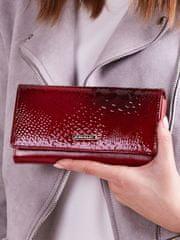 Cavaldi Elegantní kožená dámská peněženka Avery, červená