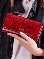 Cavaldi Delší kožená dámská peněženka s motýly Katia, červená
