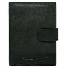 Always Wild Kožená elegantní pánská peněženka AW, černá