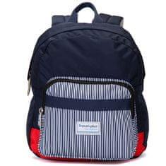 Travel plus Originální stylový batoh Travel Plus, modrý-proužky