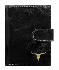 Buffalo Wild Pánská kožená peněženka Irvin, černá