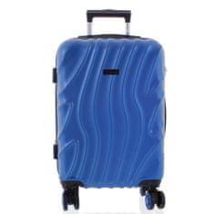 ORMI Moderní kufr perleťově modrý, 4. kolečka, velikost I