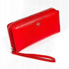 Lorenti Větší dámská peněženka na zip, světle červená
