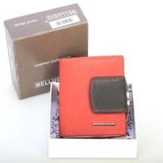 Bellugio Dámská menší kožená peněženka kombinovaná Priscilla červená/černá