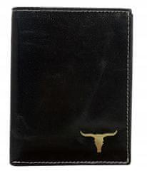 Buffalo Wild Praktická kožená pánská peněženka na výšku Ben, černá