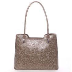 Annie Claire Zajímavá dámská kabelka Karen, krémová/zelená