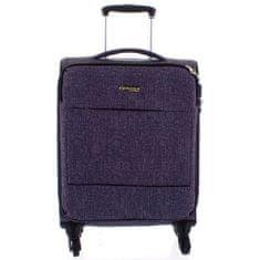 Menqite Látkový odlehčený kufr Menqite 4.kolečka, velikost I, světle šedý