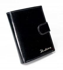 Pierre Andreus Luxusní pánská kožená peněženka s přezkou Randy, černá