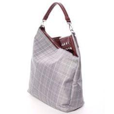 Delami Látková dámská kabelka do ruky Fatima, šedá/ vínová