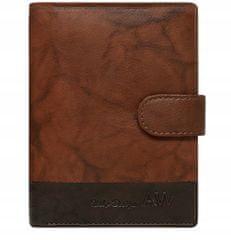 Always Wild Kožená elegantní pánská peněženka AW, světle hnědá