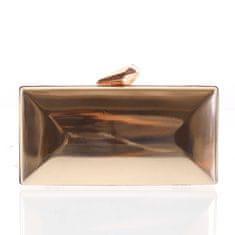 Michelle Moon Luxusní lakované dámské psaníčko Eva, růžově zlaté