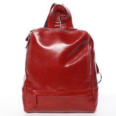 Delami Vera Pelle Elegantný dámsky kožený batôžtek Chantel, červený